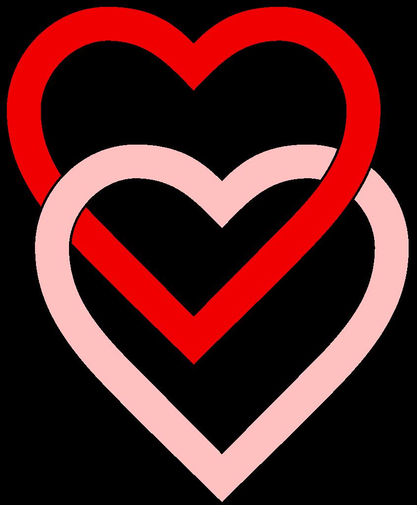 clip art free. 2 hearts png