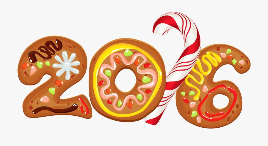 Halloween cookie merry christmas. 2016 clipart