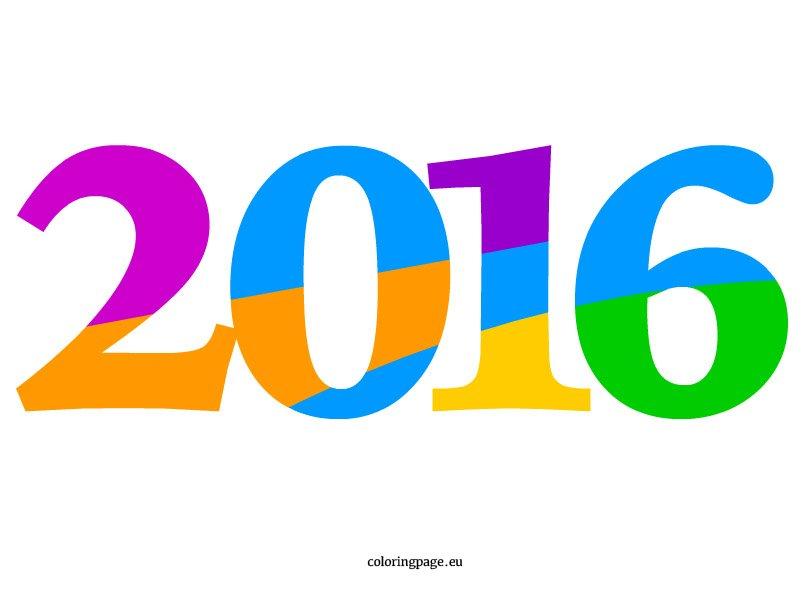 2016 clipart.  clip art coloring