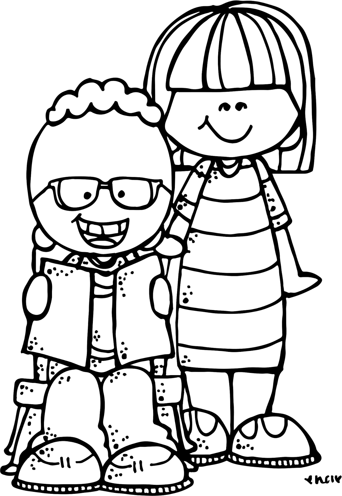 Melonheadz reading clip art. Mittens clipart black and white