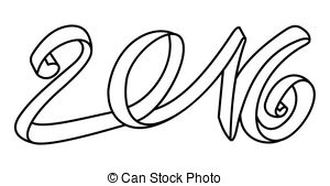 collection of high. 2016 clipart black and white