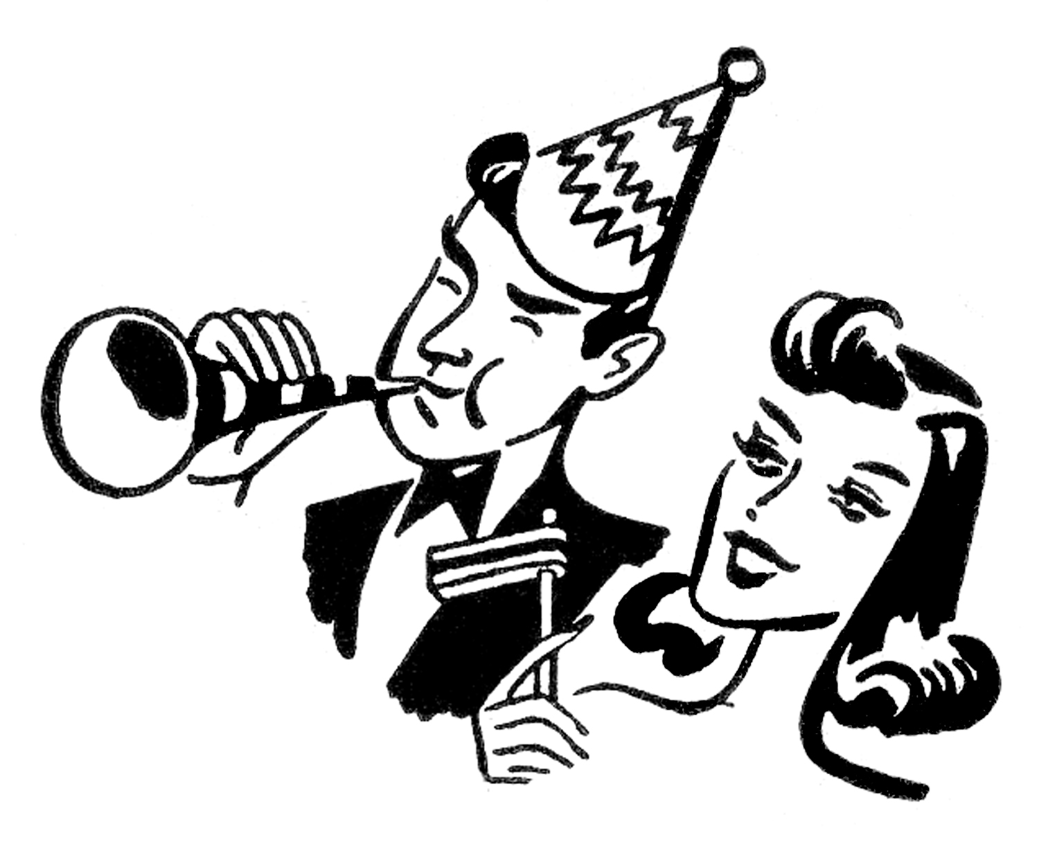 New years eve images. 2016 clipart black and white