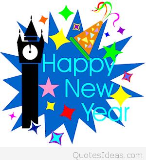 Cute card happy new. 2016 clipart blue