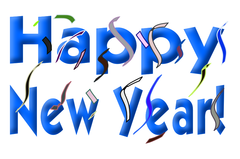 2016 clipart blue. Happy near year picture