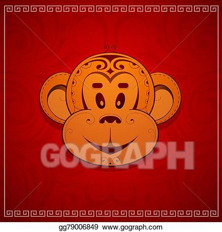 Vector stock monkey as. 2016 clipart cartoon
