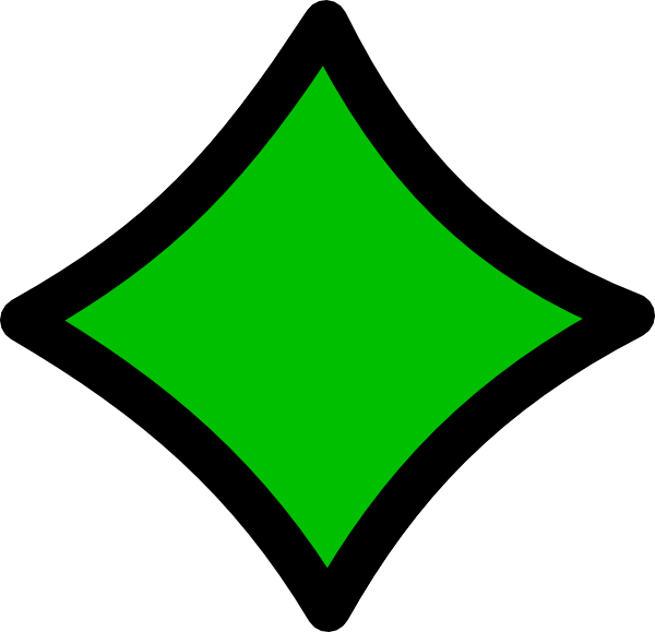 Diamond clipart green diamond. Black outline clip art