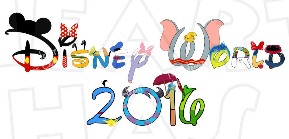 2016 clipart diamond. Disney world in character