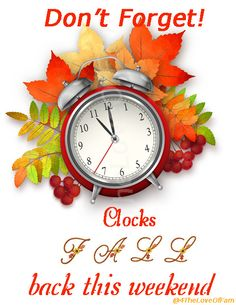 Time change clip art. 2016 clipart fall back