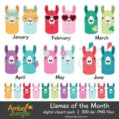 2016 clipart february. Llama llamas planner clip