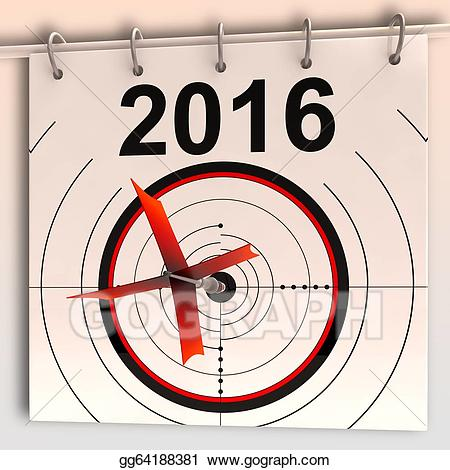 2016 clipart goal. Stock illustration target means