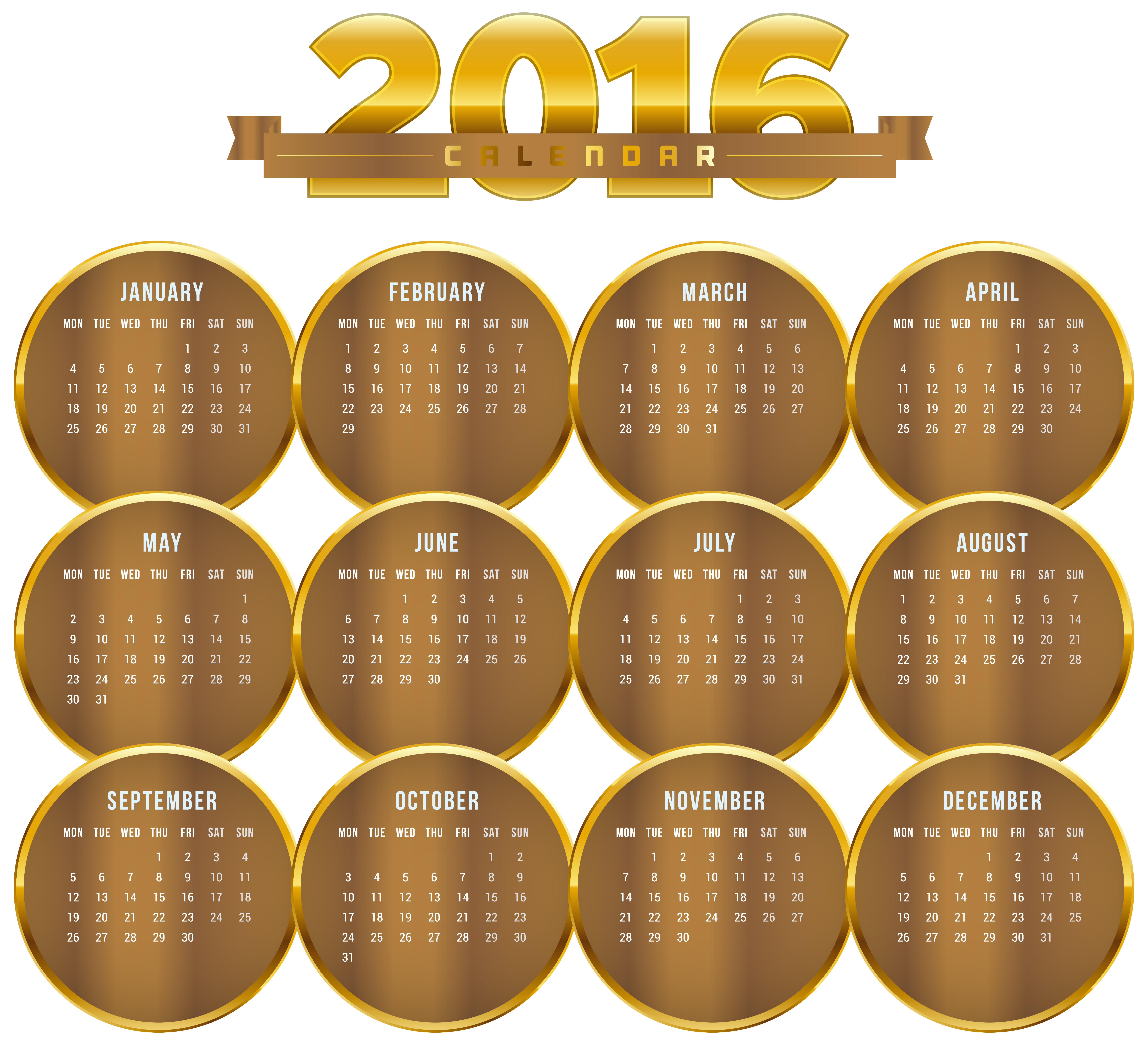 Schedule clipart printable. Transparent gold calendar png