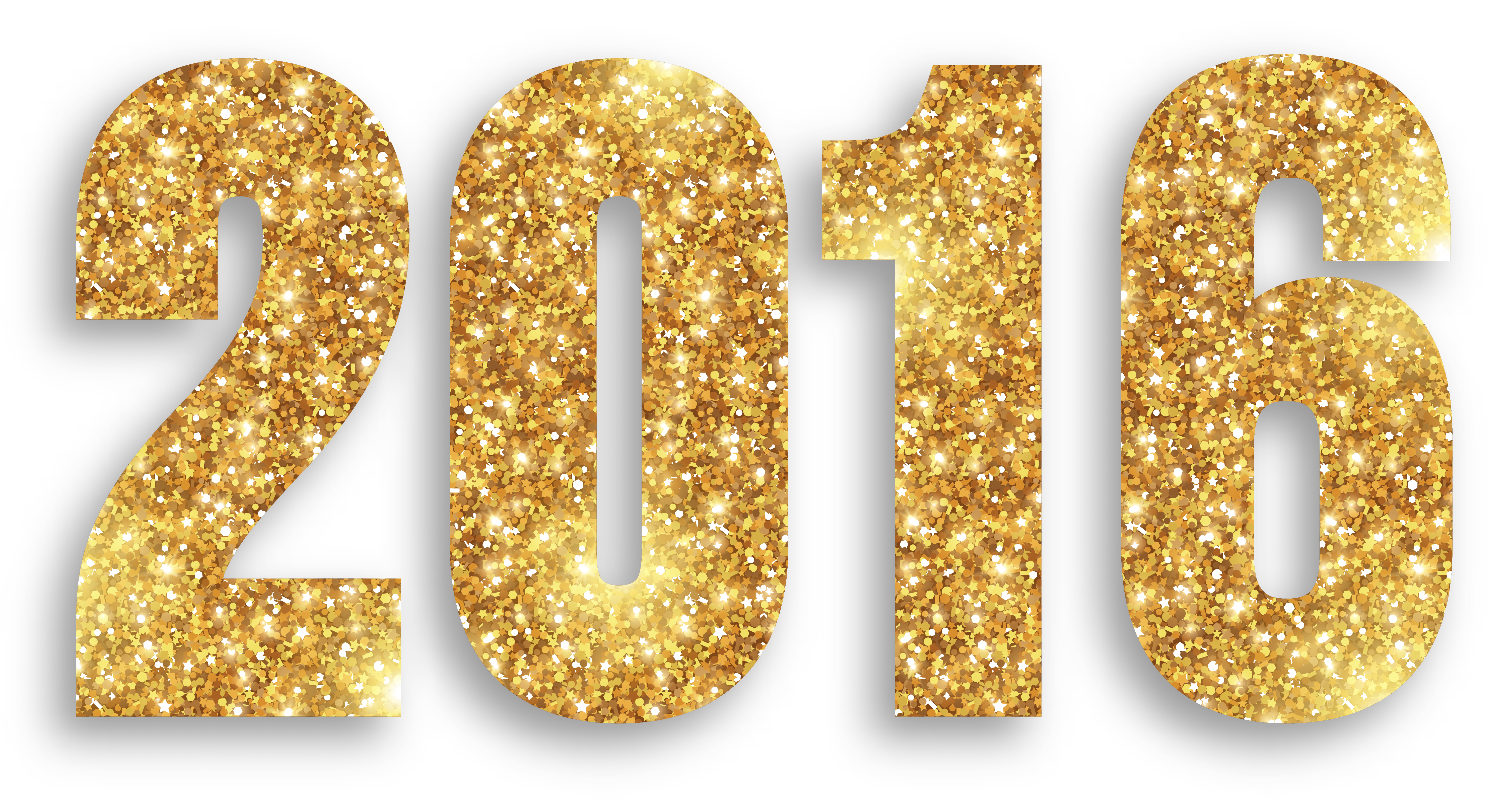 2016 clipart gold.  large png image