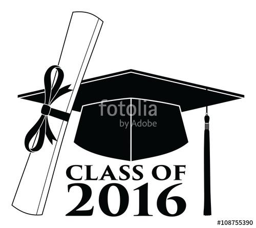 2016 clipart graduation. Graduating class of vector