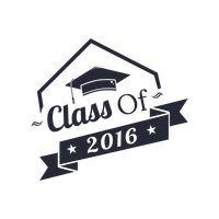 2016 clipart graduation. Happy class of vector
