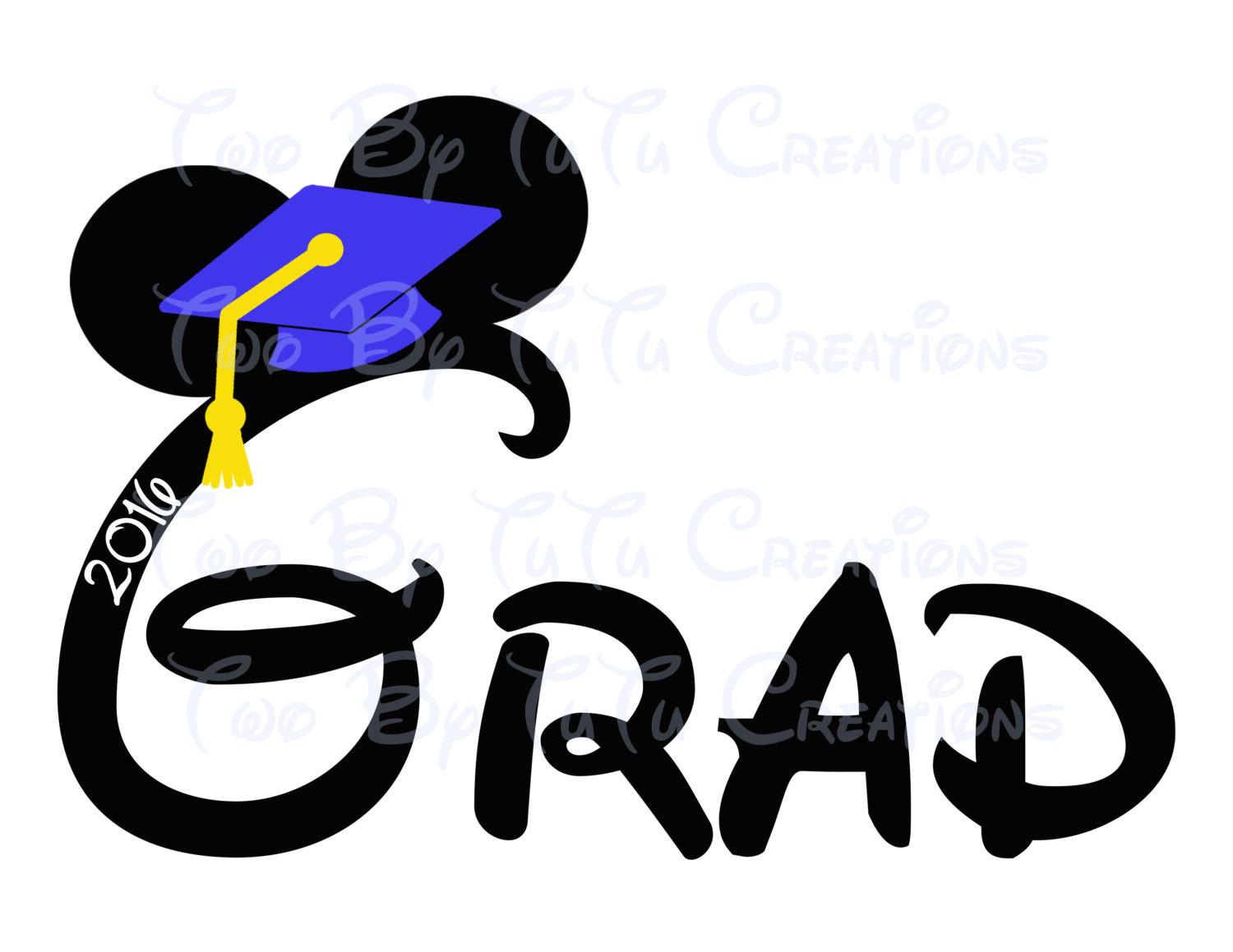 Disney pencil and in. 2016 clipart graduation