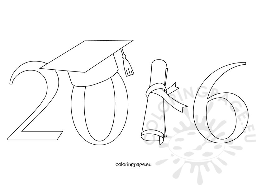 Of coloring page . 2016 clipart graduation