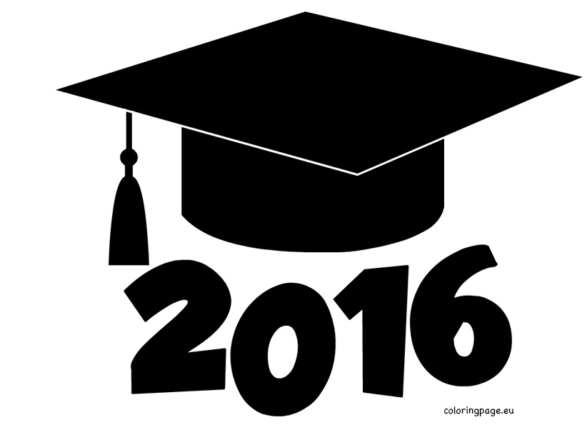 2016 clipart graduation hat. Cap cliparts zone