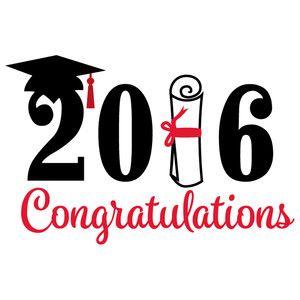 Congratulations silhouette design store. 2016 clipart graduation party