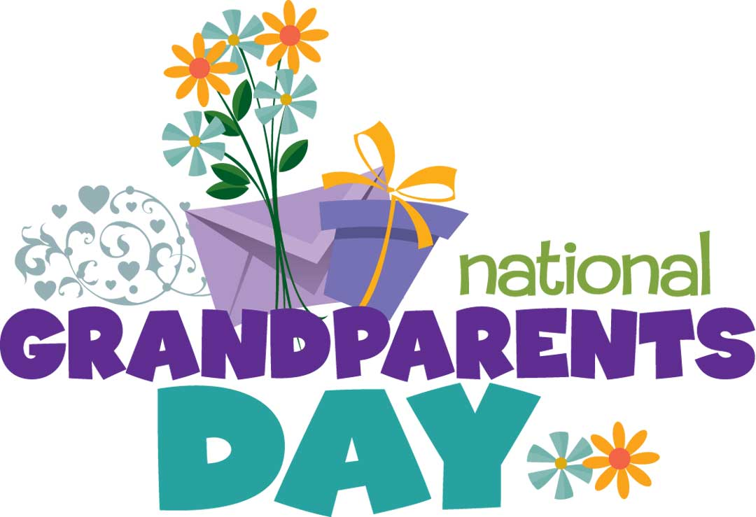 National flowers and gift. 2016 clipart grandparents day