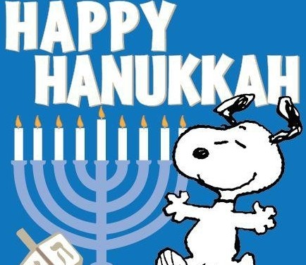 2016 clipart hanukkah. Snoopy dog wishes you