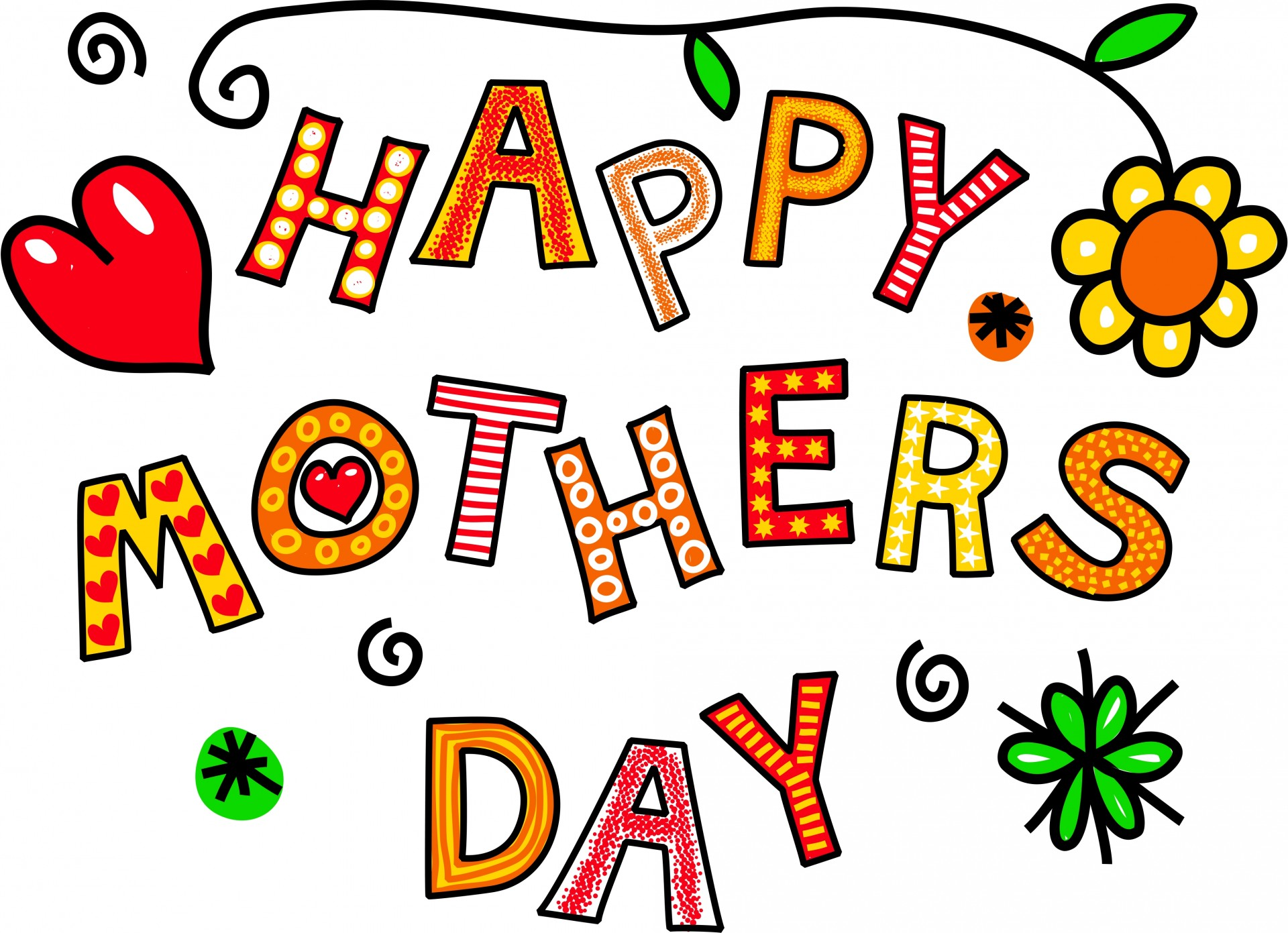Beautiful clipart mothers day. Happy free stock photo