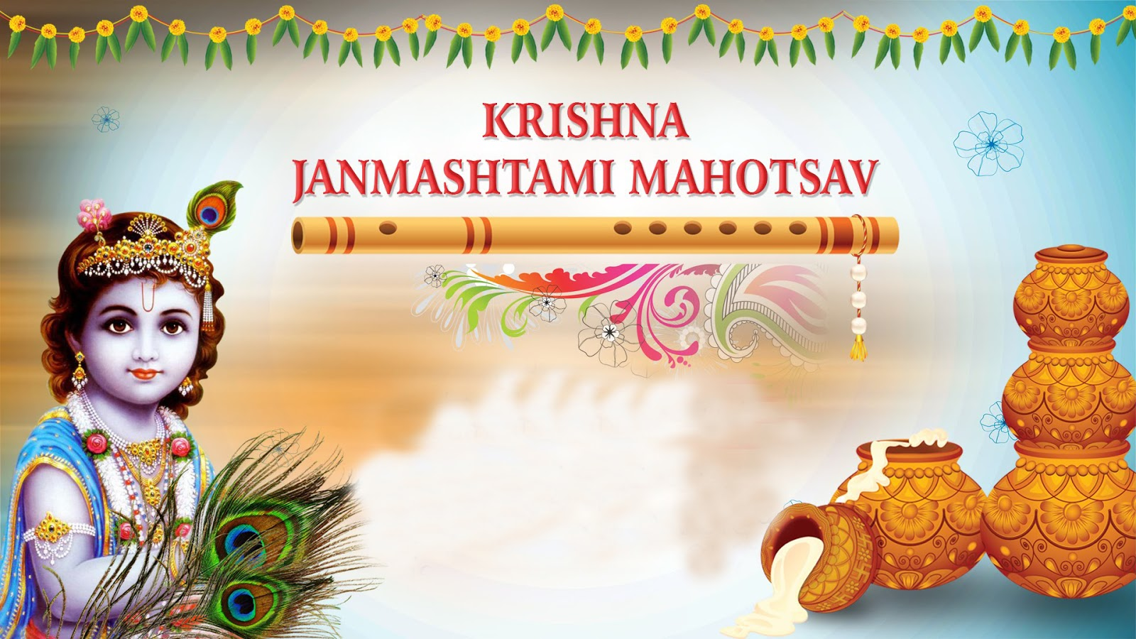 Indian culture cartoons happy. 2016 clipart janmashtami