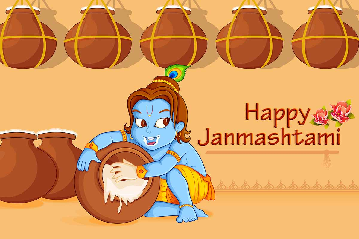 very beautiful krishna. 2016 clipart janmashtami