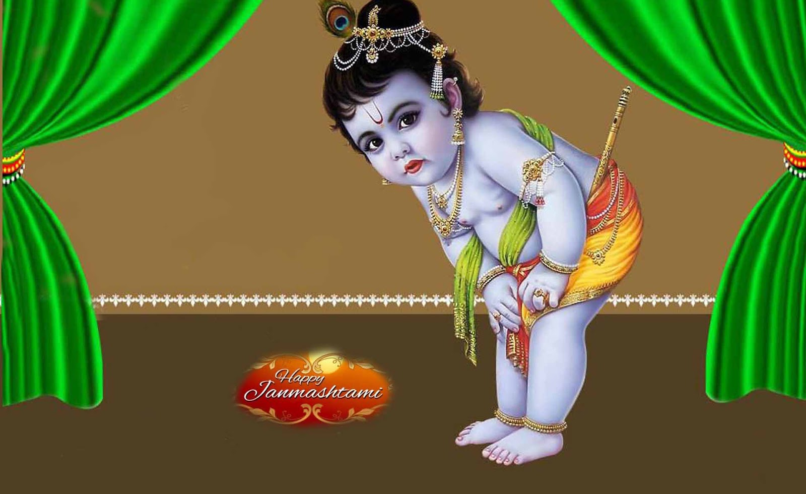 Great looking happy krishna. 2016 clipart janmashtami