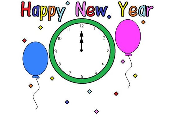 Happy new year template. 2016 clipart january