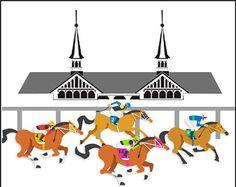 Free clip art poster. 2016 clipart kentucky derby
