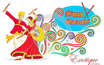 Exotique wishes happy beginning. 2016 clipart navratri