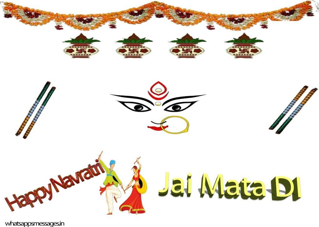 2016 clipart navratri. Happy sms in hindi