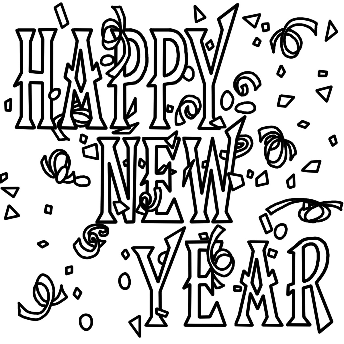 Black and white church. 2016 clipart new year
