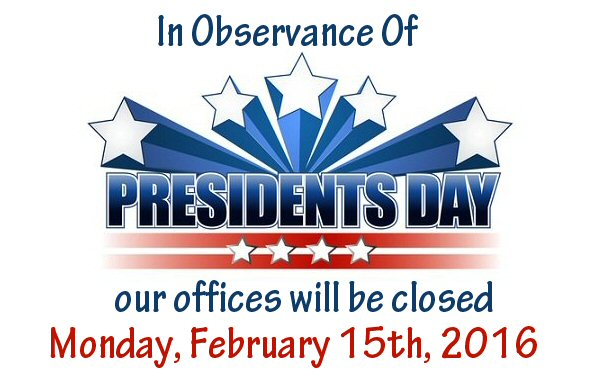 Offices closed monday in. 2016 clipart presidents day