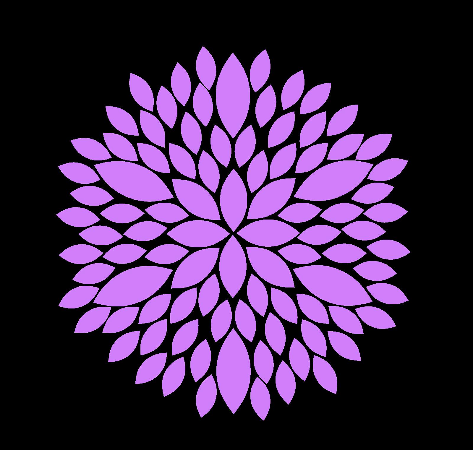 Flower clip art free. Purple clipart coral