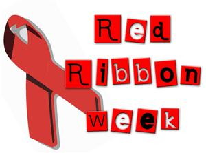 Ribbon week indian lake. 2016 clipart red