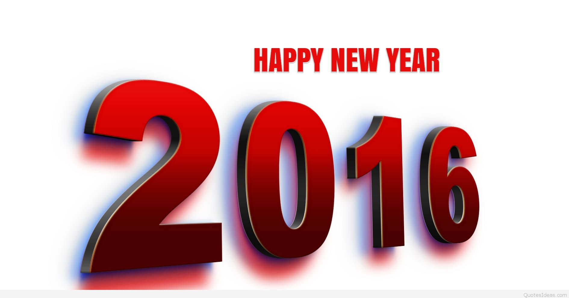 Happy new year clip. 2016 clipart red