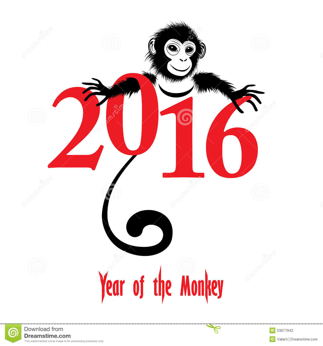 Chinese new year of. 2016 clipart red
