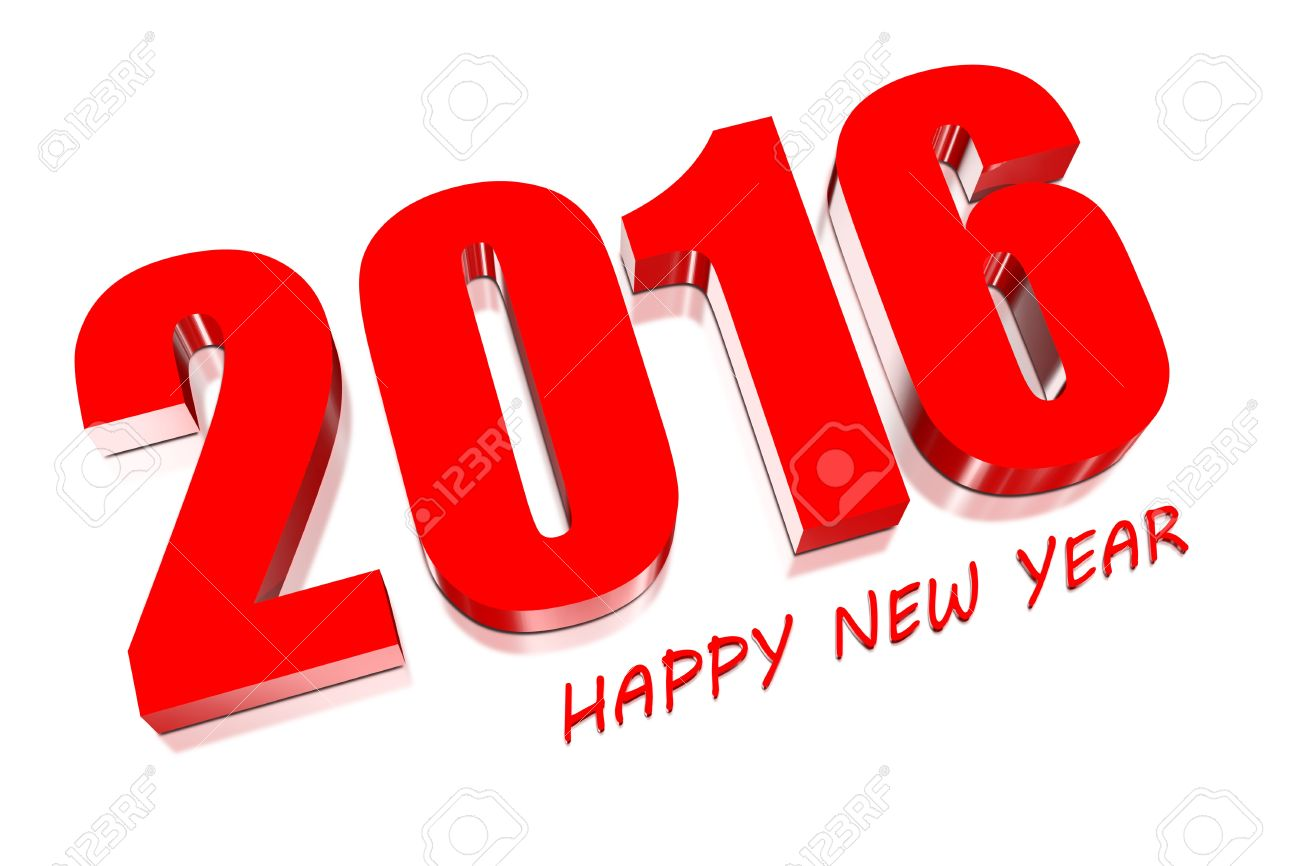 best happy new. 2016 clipart red