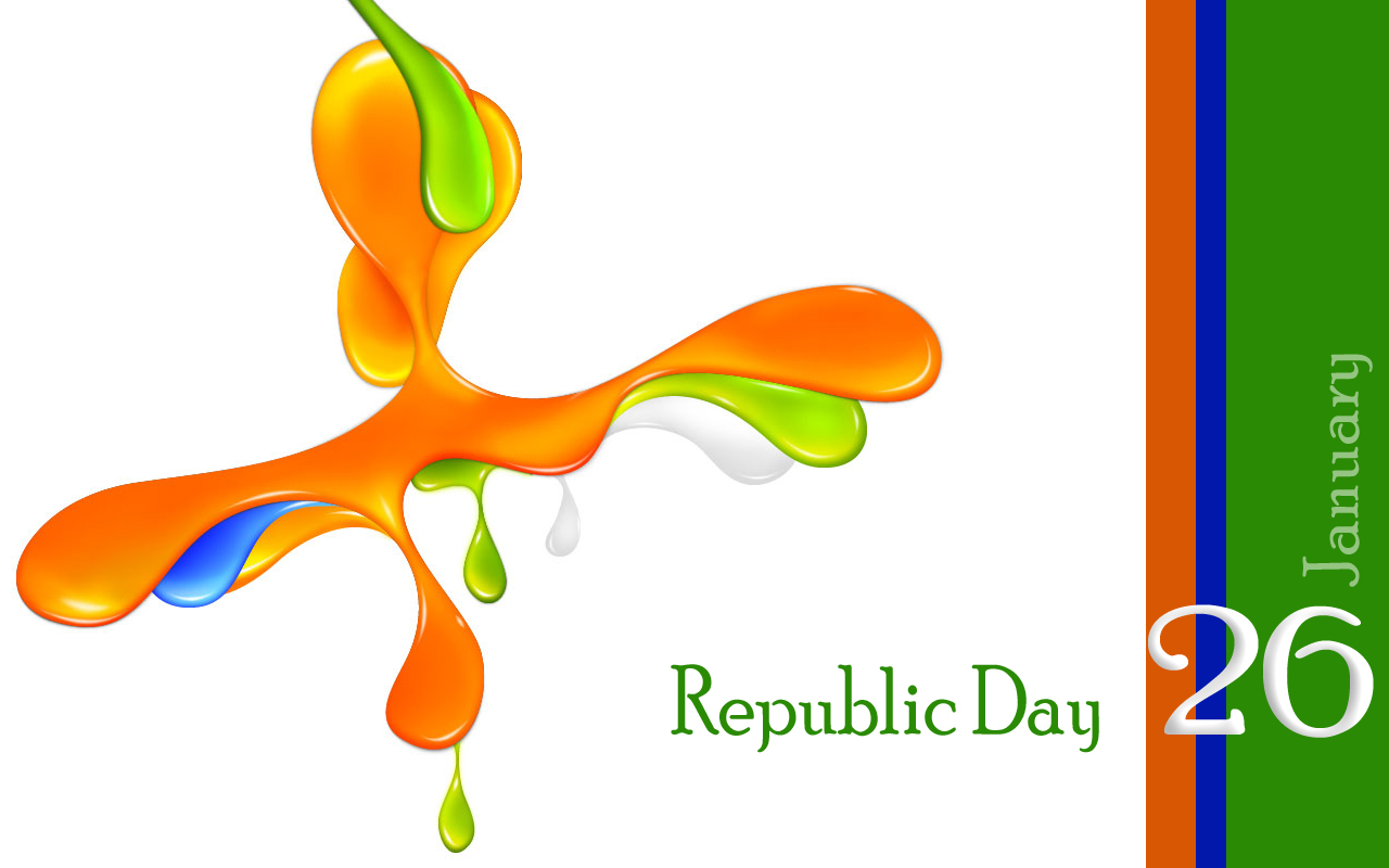 january greeting card. 2016 clipart republic day