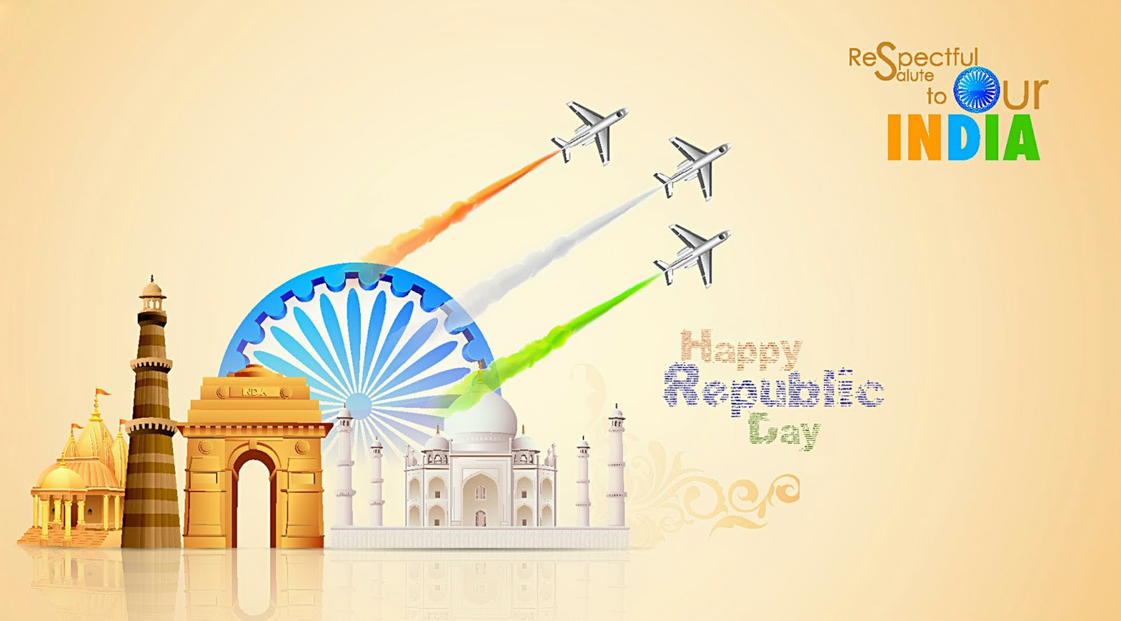 january greeting cards. 2016 clipart republic day