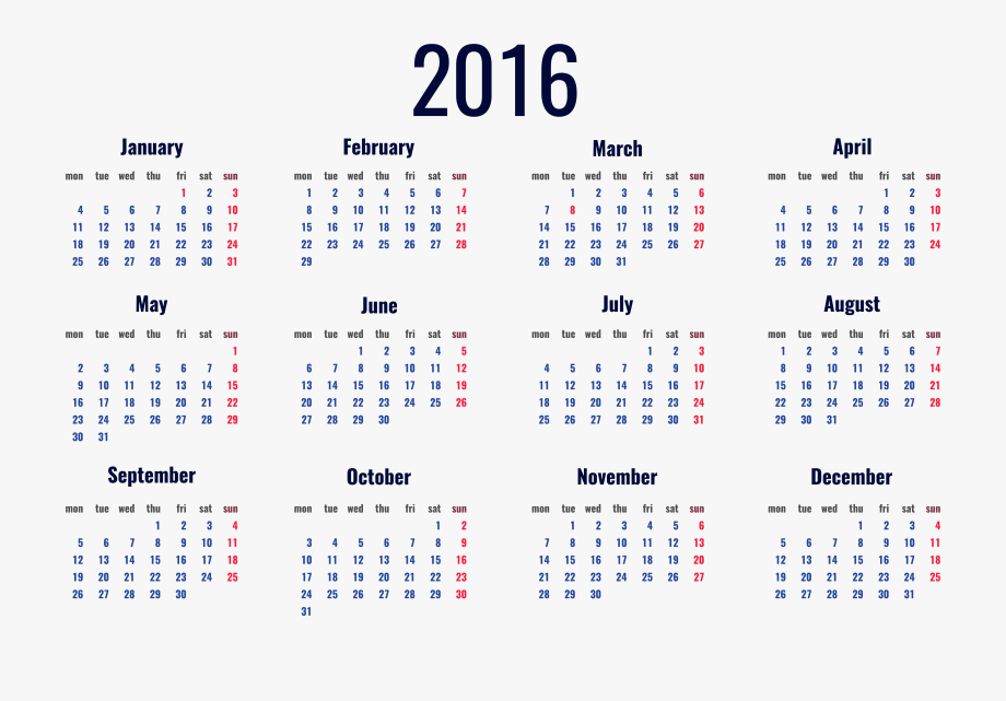 2016 clipart transparent. Schedule calendar png