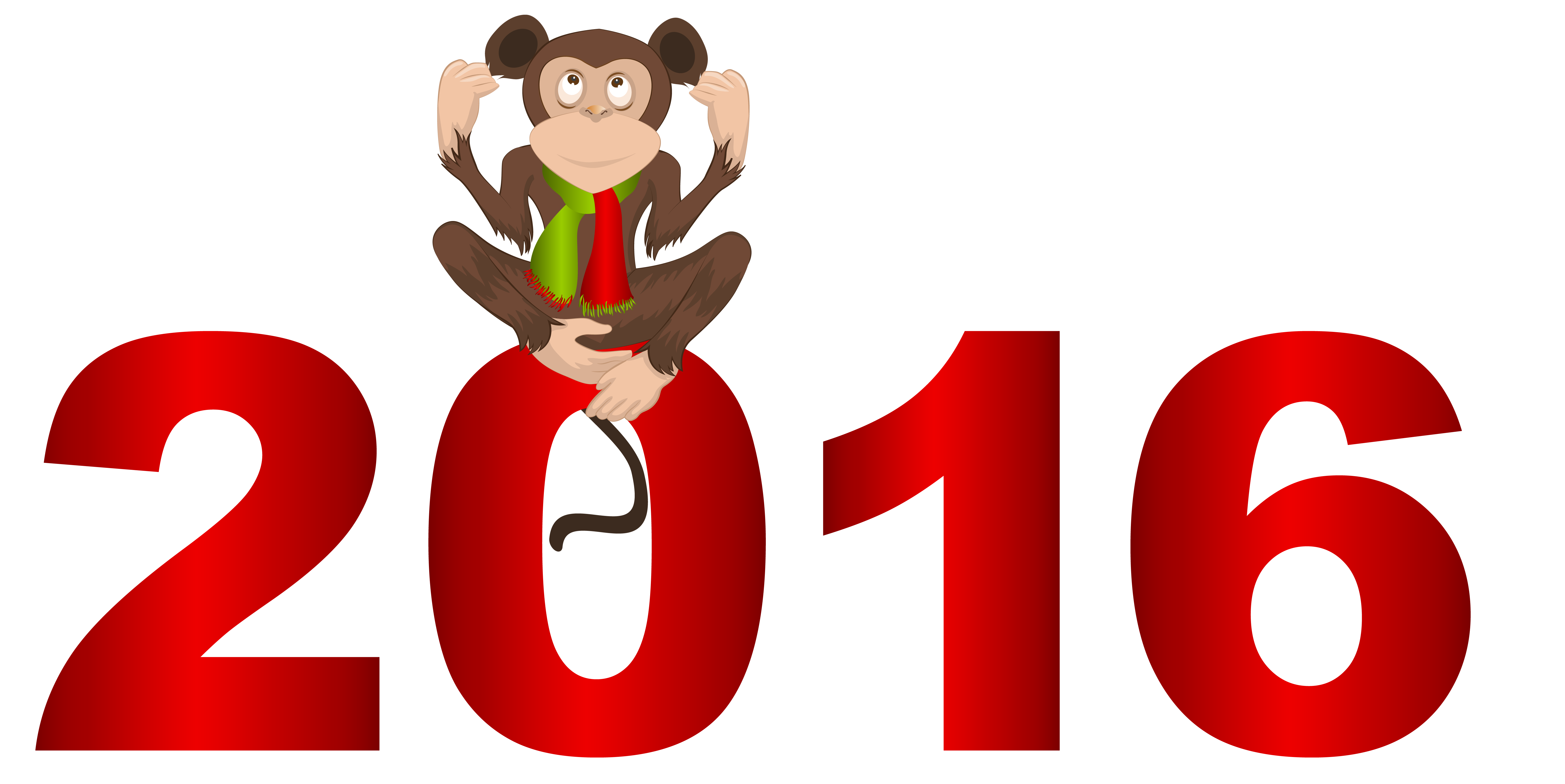 2016 clipart transparent.  with monkey png