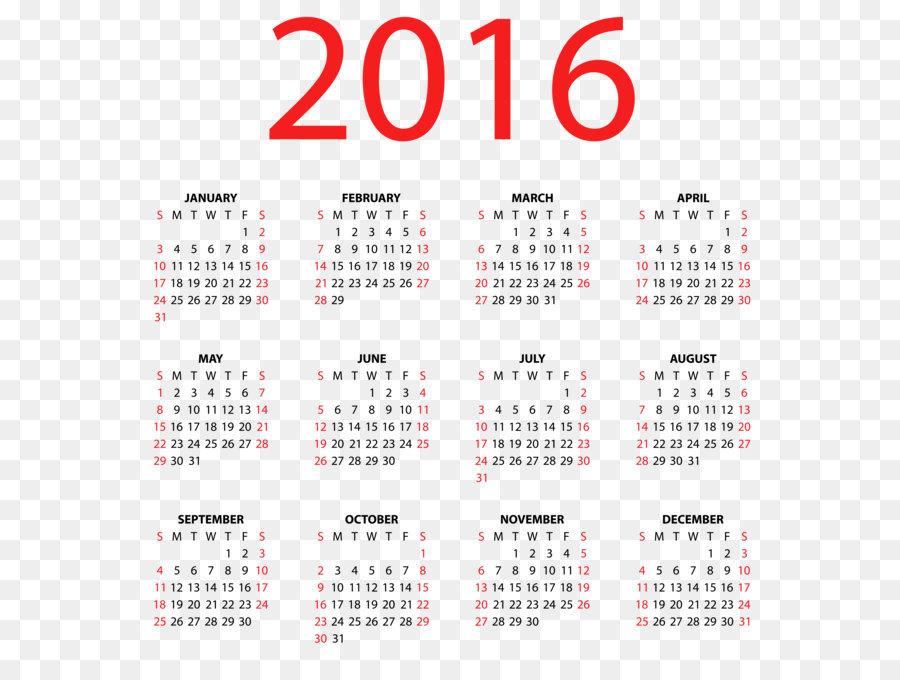 2016 clipart transparent. Calendar euclidean vector clip