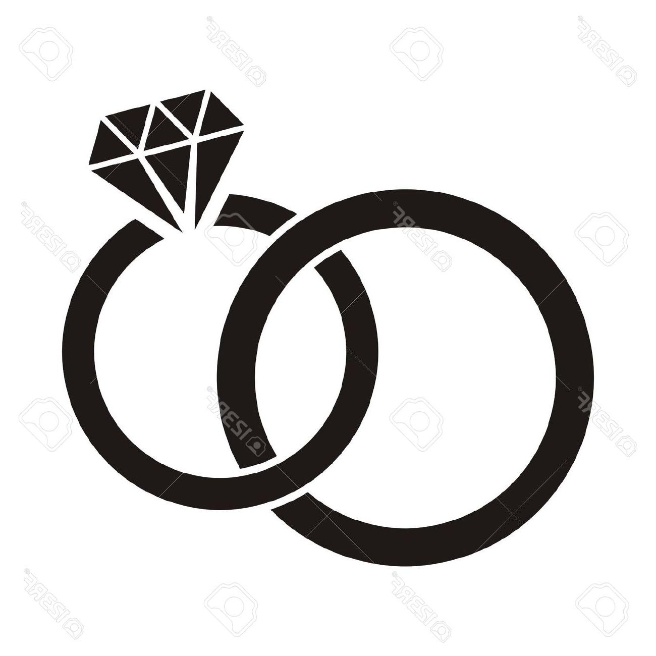2016 clipart wedding. Illustration mariage noir anneaux
