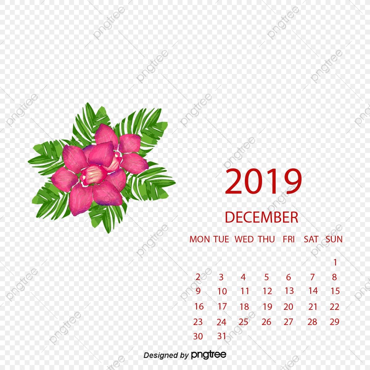 Calendar december red png. 2017 clipart 2017 number