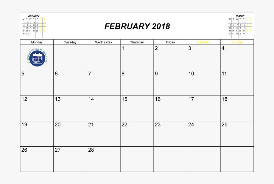 2017 clipart 2017 number. Printable february calendar black