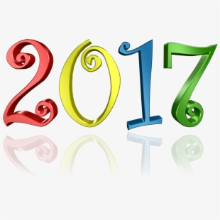 Free new year cliparts. 2017 clipart