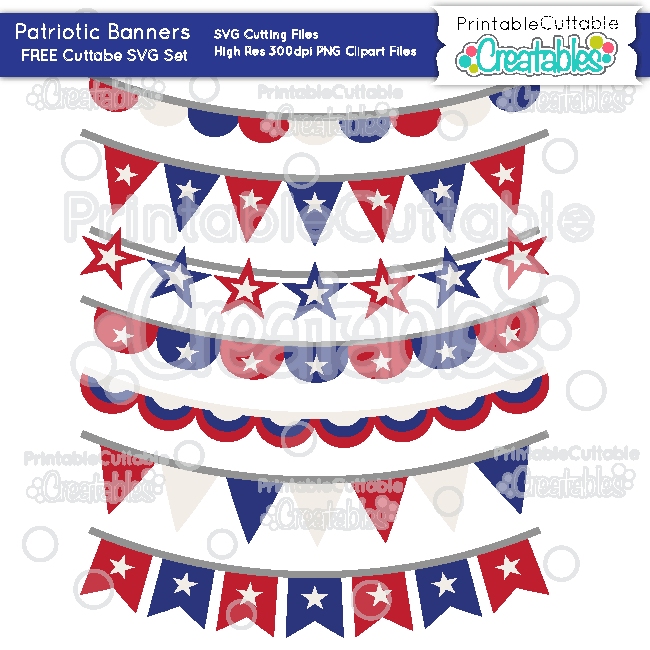 2017 clipart banner. Patriotic banners free svg