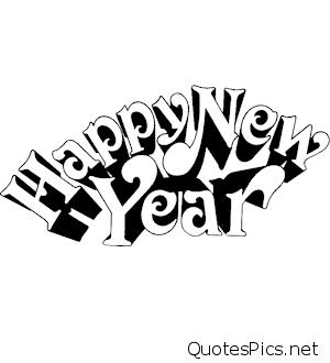 2017 clipart black and white. Happy new year clip